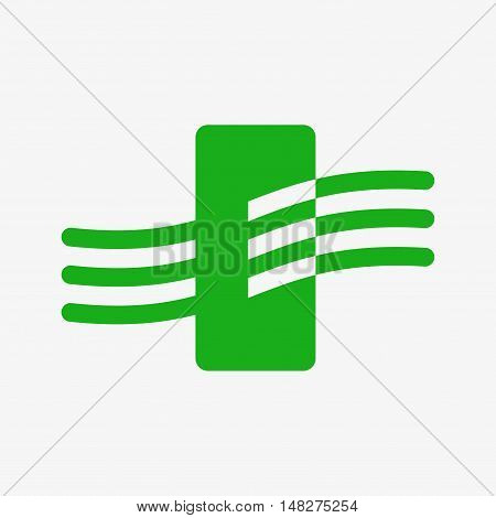 Air purifiing in smart home. Air purifiers icon. Flat design vector illustration. Isolated on white background