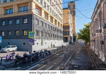 Moscow, Russia - September 21, 2015. General view of the alley Kolymazhny