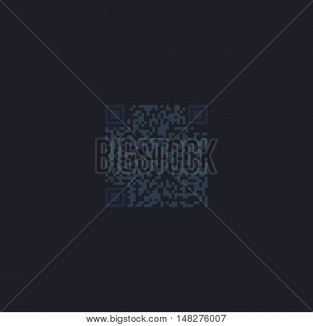Qr code Color vector icon on dark background
