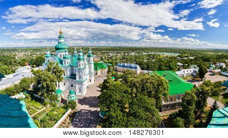 Troeckiy cathedral (17th century) in the city of Chernihiv Ukraine