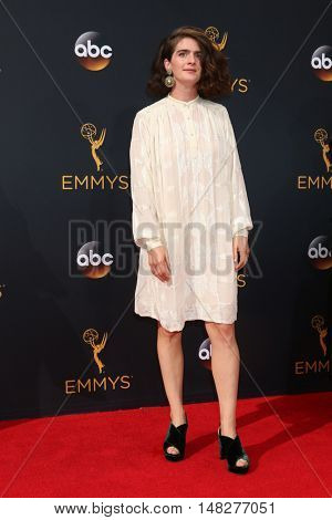 LOS ANGELES - SEP 18:  Gaby Hoffmann at the 2016 Primetime Emmy Awards - Arrivals at the Microsoft Theater on September 18, 2016 in Los Angeles, CA