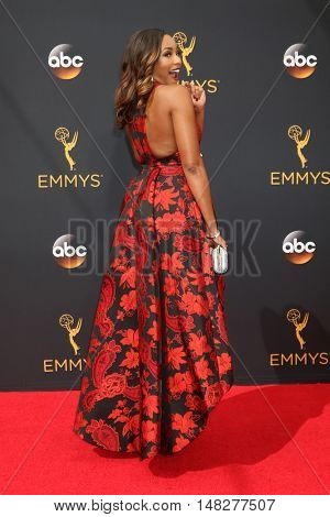 LOS ANGELES - SEP 18:  Alicia Quarles at the 2016 Primetime Emmy Awards - Arrivals at the Microsoft Theater on September 18, 2016 in Los Angeles, CA