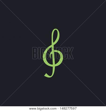 clef Color vector icon on dark background