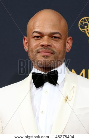 LOS ANGELES - SEP 18:  Anthony Hemingway at the 2016 Primetime Emmy Awards - Arrivals at the Microsoft Theater on September 18, 2016 in Los Angeles, CA