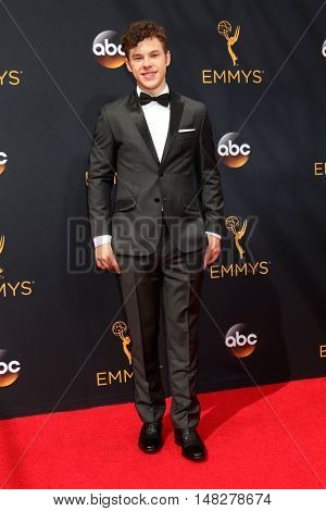 LOS ANGELES - SEP 18:  Nolan Gould at the 2016 Primetime Emmy Awards - Arrivals at the Microsoft Theater on September 18, 2016 in Los Angeles, CA