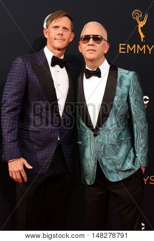 LOS ANGELES - SEP 18:  David Miller, Ryan Murphy at the 2016 Primetime Emmy Awards - Arrivals at the Microsoft Theater on September 18, 2016 in Los Angeles, CA