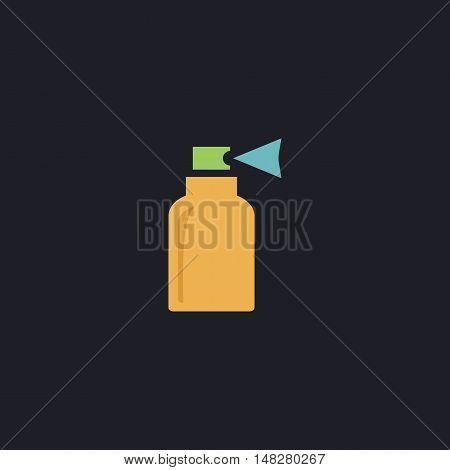 Spray Color vector icon on dark background