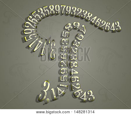 The Greek letter Pi is depicted from the figures, of which it is composed