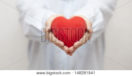Health insurance or love concept