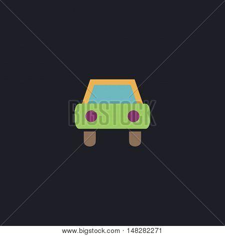 Car Color vector icon on dark background