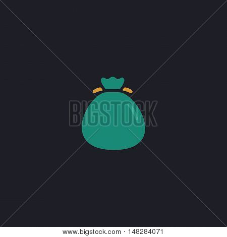 sack Color vector icon on dark background