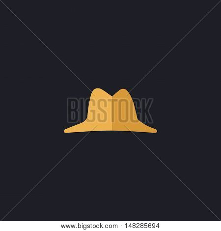hat Color vector icon on dark background