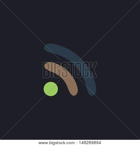 podcast Color vector icon on dark background