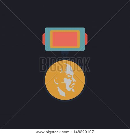 USSR Order Color vector icon on dark background