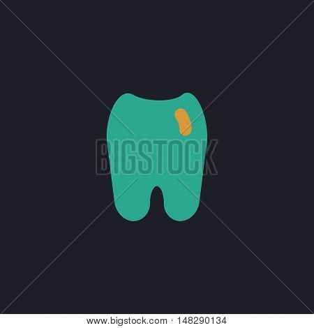 Tooth Color vector icon on dark background