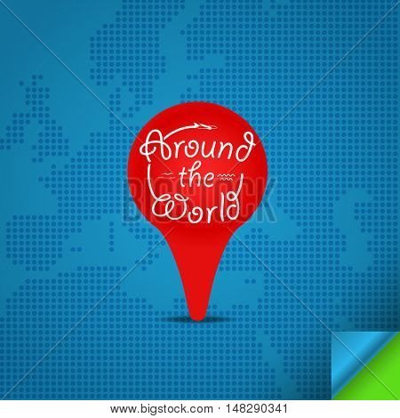 Around the world concept. Design template