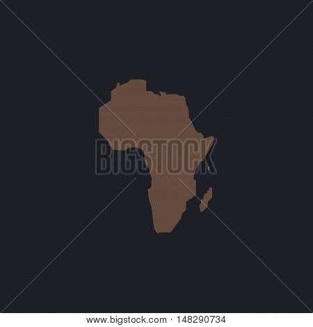 Africa Color vector icon on dark background