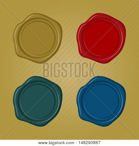 Blank Wax Seals with different color collection