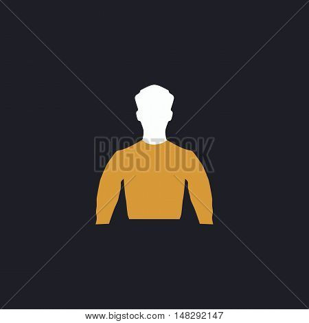 Unknown male Color vector icon on dark background