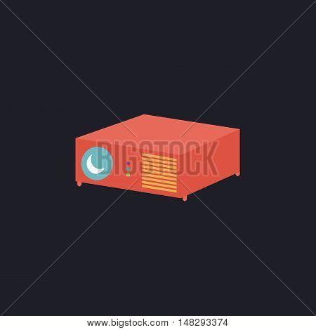 Projector Color vector icon on dark background