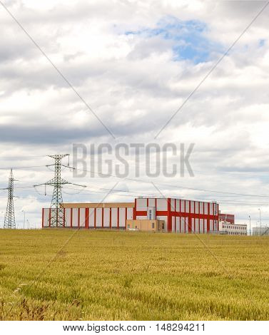 Storage of spent nuclear fuel, cloudy sky