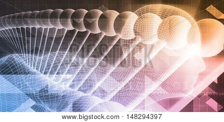 Medical Science and Scientific Studies Concept Art 3d Illustration Render