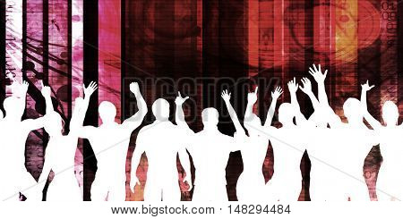 Disco Electronic Music Techno Party Background Art