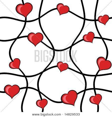 Abstrakte Herzen