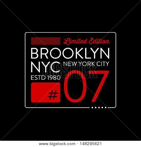 Brooklyn typography design. T-shirt graphics. Vector illustration