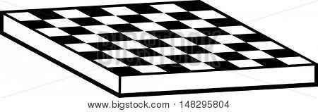 empty checkered game board