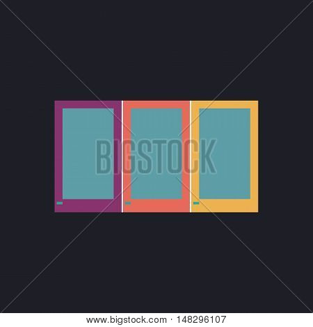 wardrobe Color vector icon on dark background