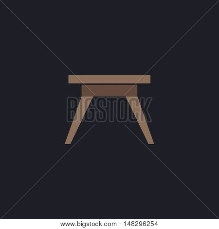 Camping table Color vector icon on dark background