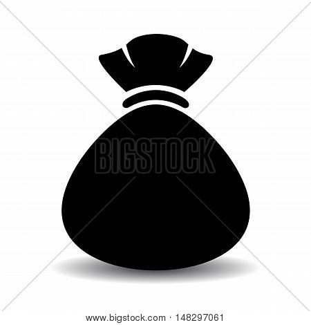 Sack bag icon vector illustration isolated on white background