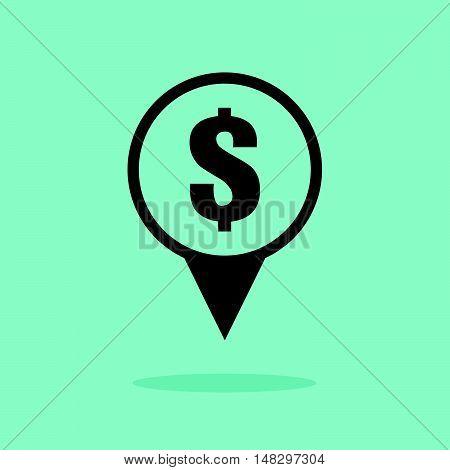 Money Location Sign Icon