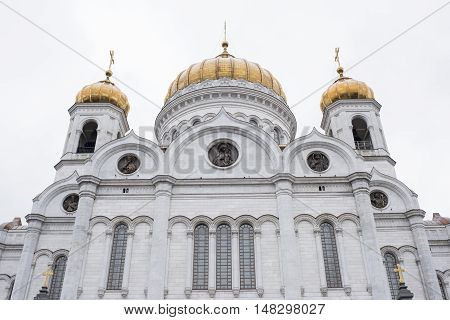 Moscow Russia -September 052016: Christ Temple Saviour