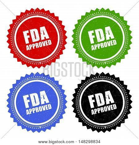 Fda approved stamp vector illustration isolated on white background