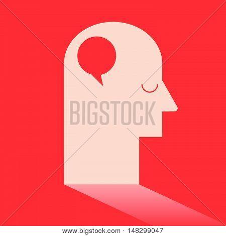 Circle Speech Bubble In Brain