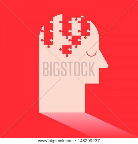 Jigsaw Puzzle In Brain Like Ideas And Imagination