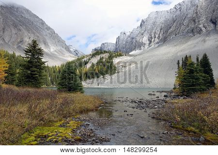 Picture of Chester lake in Peter Lougheed Provincial park,Alberta,Canada.