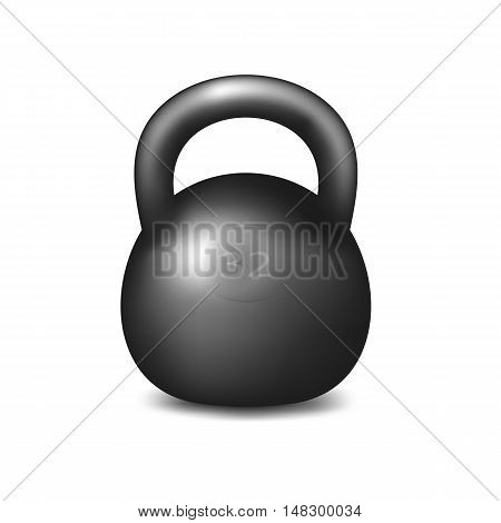 Athletic kettlebell for weightlifting and bodybuilding. Object on a white background.