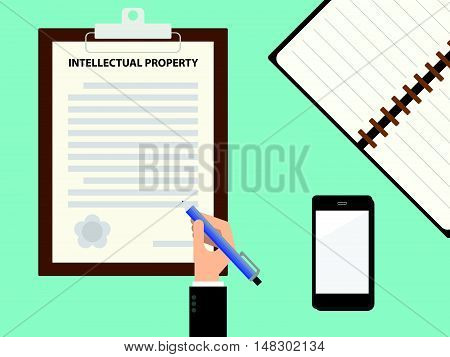 Intellectual Property Contract Clipboard