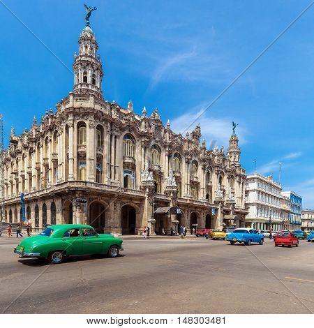 Great Theatre in old town Havana Cuba
