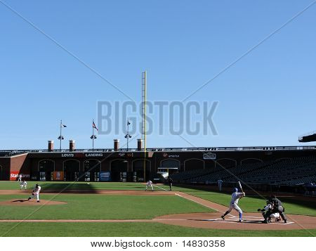 Pitcher Throws Pitch To Batter