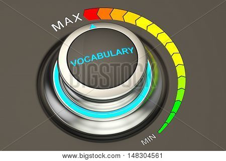 max level of vocabulary concept 3D rendering