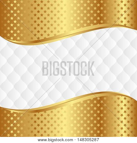 background with stars and decorative pattern - vector illustration