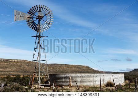 The Windmill And Water Tank In Sutherland