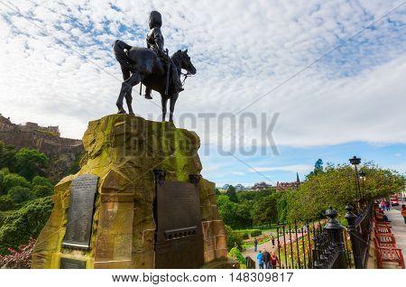 Royal Scots Greys Memorial In Edinburgh, Scotland