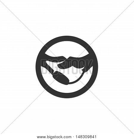 Handshake Icon isolated on a white background. Handshake Logo design vector template. Business Logotype concept icon. Symbol, sign, pictogram, illustration - stock vector