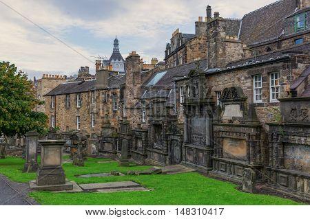 Greyfriars Kirkyard In Edinburgh, Scotland