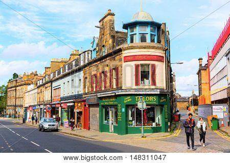Street View Of Queensferry Street In Edinburgh